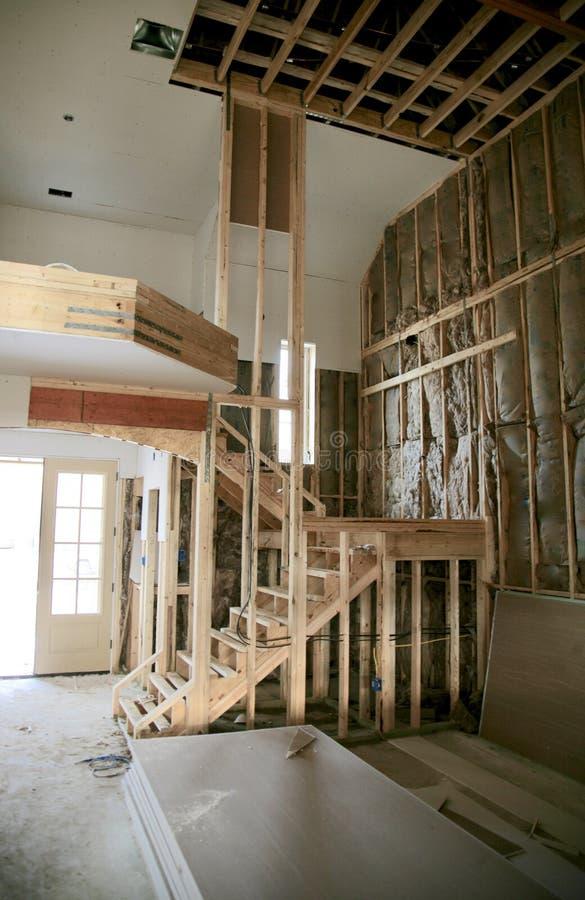 Interior del hogar bajo construcción fotografía de archivo libre de regalías