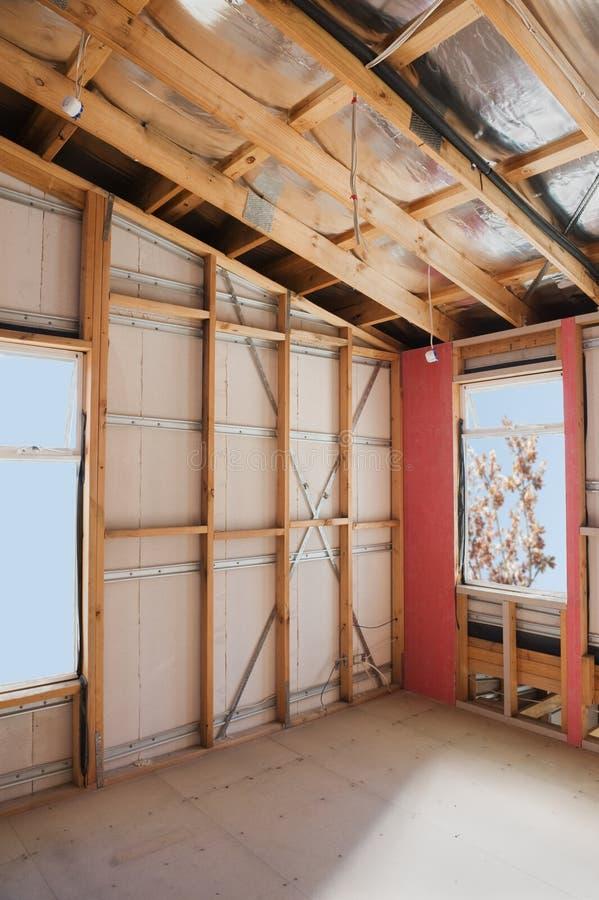 Interior del hogar de la construcción fotos de archivo