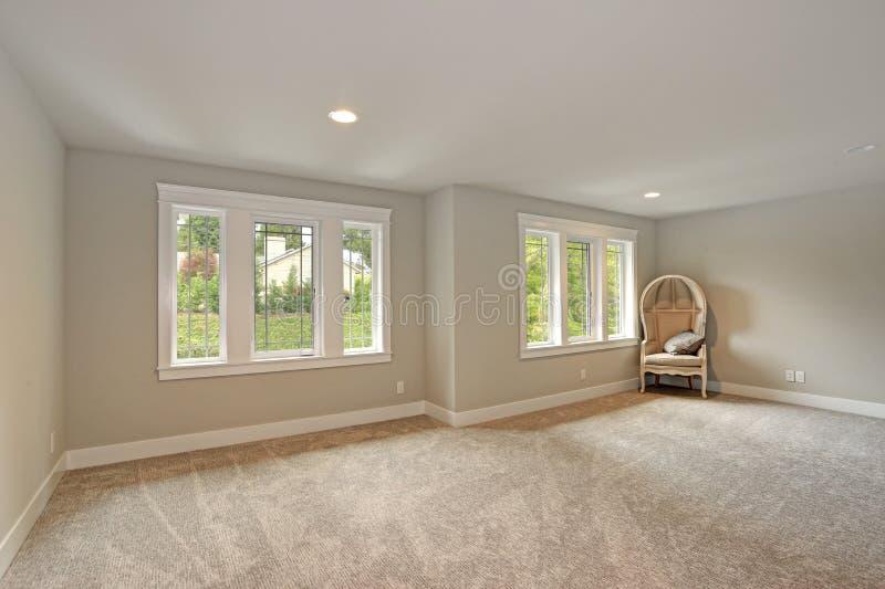 Interior del hogar de la nueva construcción Sitio vacío imagenes de archivo