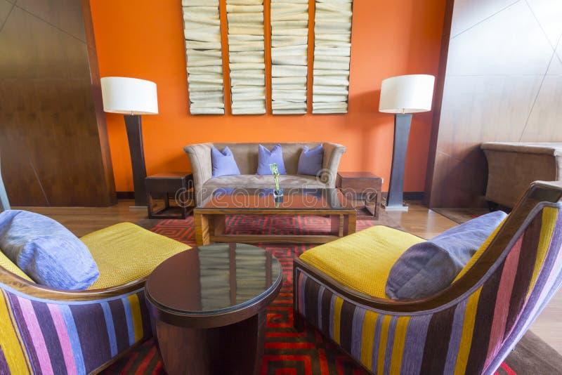Interior del hotel de las estrellas del lujo cinco en Bogotá, Colombia fotos de archivo