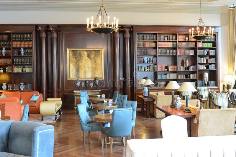 Interior del hotel de parque de Miraflores, Lima Peru foto de archivo libre de regalías
