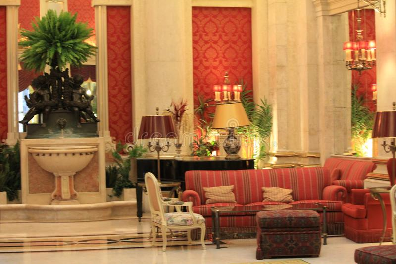 Interior del hotel exclusivo en Lisboa, Portugal fotos de archivo libres de regalías