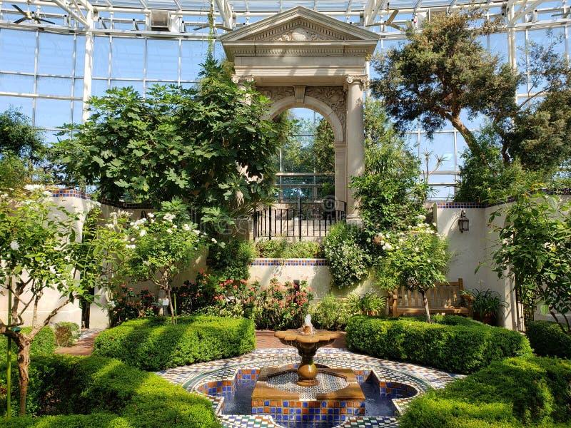 Interior del jardín botánico de Missouri, ST Louis MO imagen de archivo