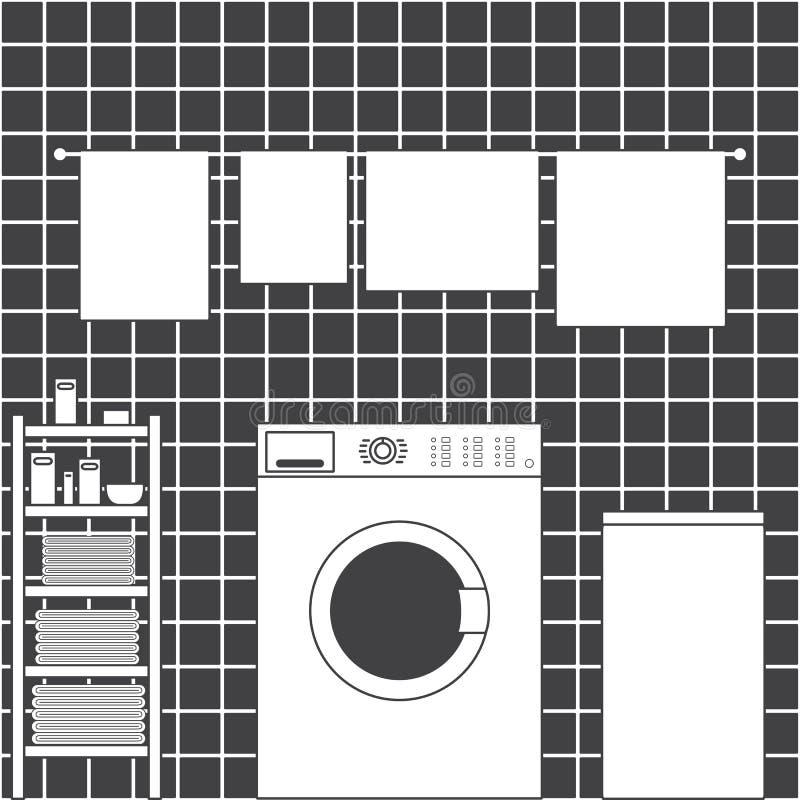 Interior del lavadero libre illustration