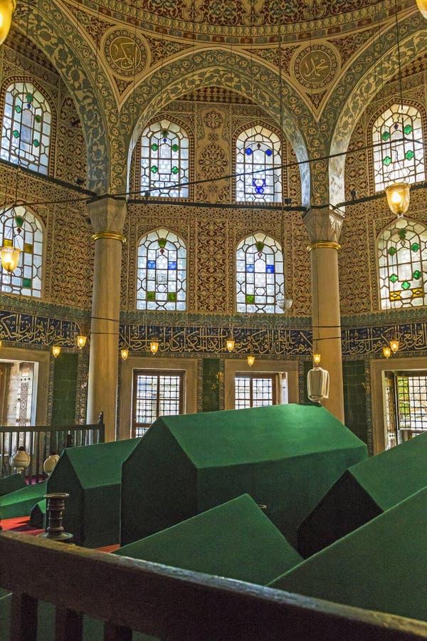 Interior del mausoleo de Sultan Mehmed III, Estambul foto de archivo