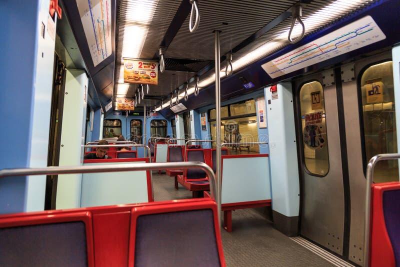 Interior del metro de Lisboa fotografía de archivo libre de regalías