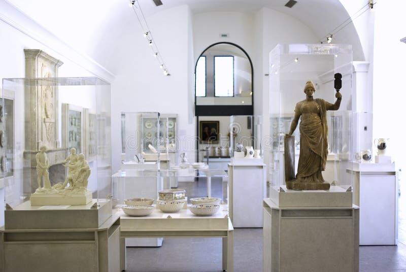 Interior del museo imagen de archivo