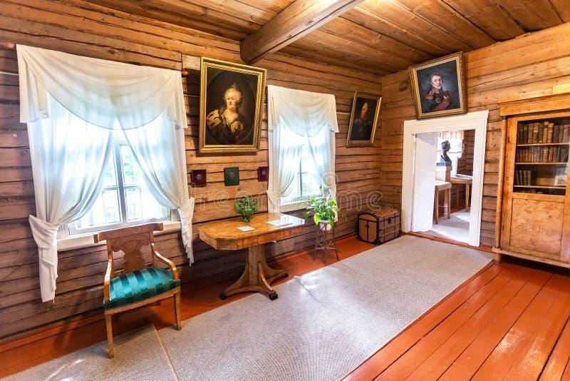 Interior del museo Alexander Suvorov en el museo-estado fotografía de archivo
