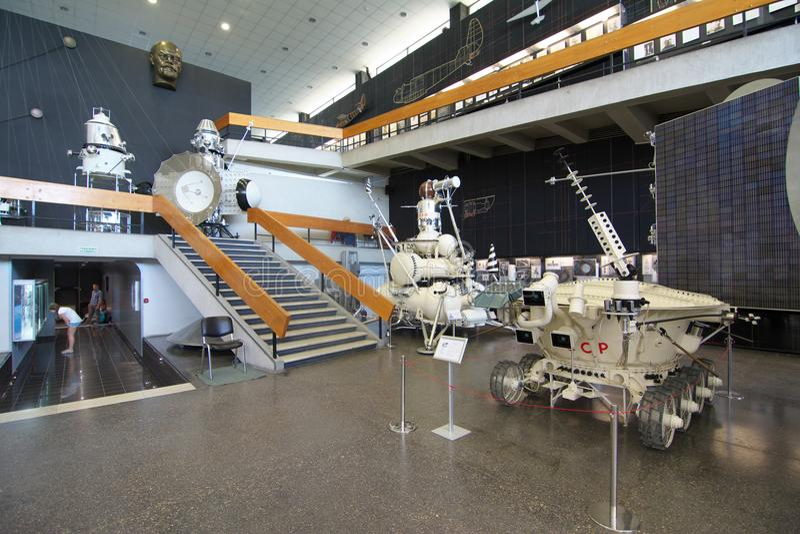 Interior del museo del cosmonauta en la ciudad de Kaluga fotos de archivo libres de regalías