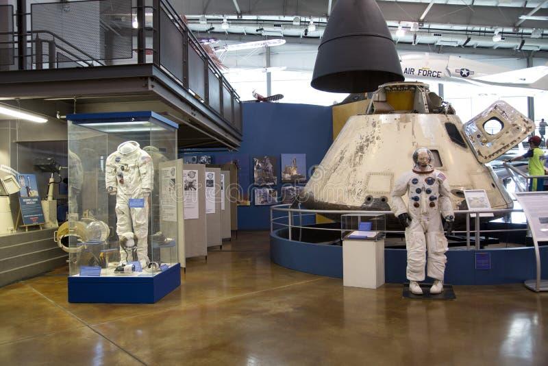 Interior del museo Dallas TX del vuelo de las fronteras imágenes de archivo libres de regalías
