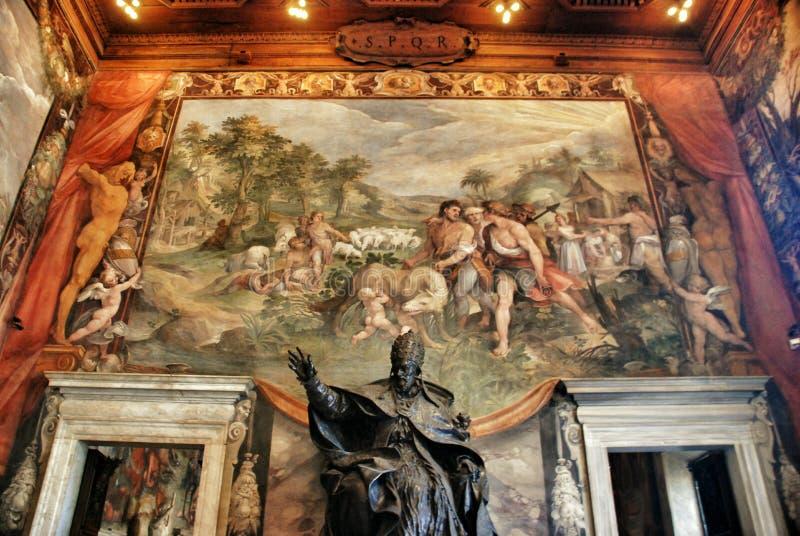 Interior del museo de Capitoline, Roma fotografía de archivo