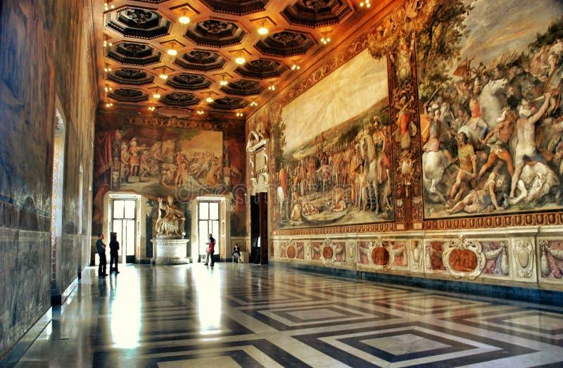 Interior del museo de Capitoline, Roma fotografía de archivo libre de regalías