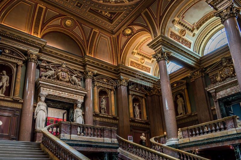 Interior del museo de FitzWilliam para el antiquitie, Cambridge foto de archivo libre de regalías