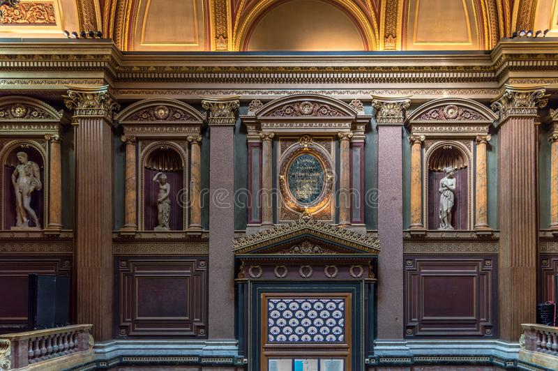 Interior del museo de FitzWilliam para las antigüedades y las bellas arte en Cambridge fotografía de archivo