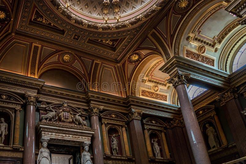 Interior del museo de FitzWilliam para las antigüedades y las bellas arte en Cambridge imagen de archivo