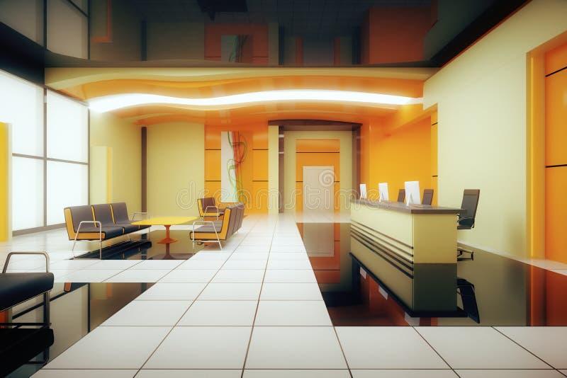 Interior del negocio de Orane stock de ilustración