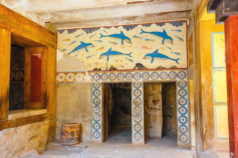 Interior del palacio de Minoan de Knossos fotografía de archivo libre de regalías