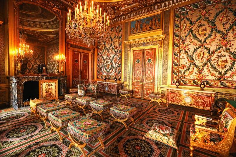 Interior del palacio de París, Francia, Versalles fotos de archivo