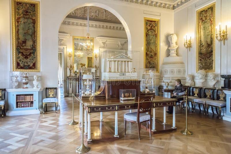 Interior del palacio de Pavlovsk, residencia imperial rusa, nea imagen de archivo libre de regalías