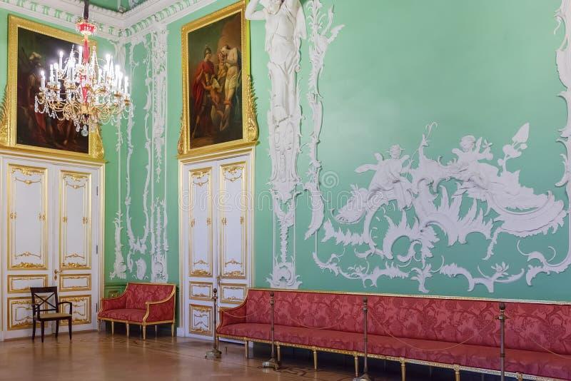Interior del palacio de Stroganov en St Petersburg, Rusia imagenes de archivo