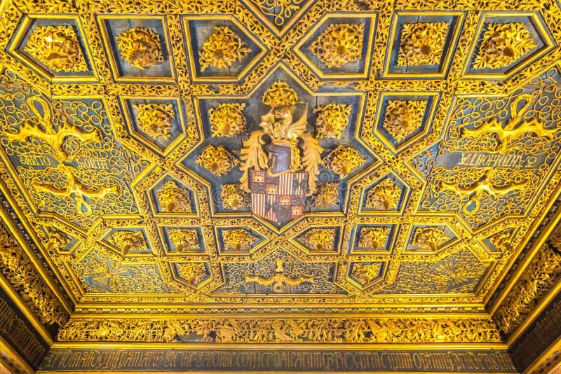 Interior del palacio de Zaragoza fotos de archivo libres de regalías