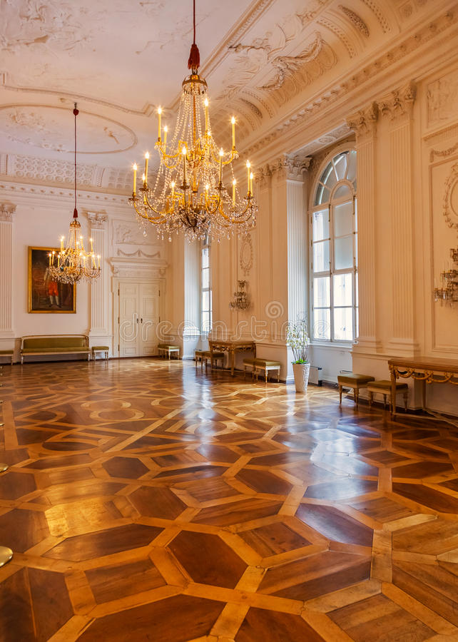 Interior del palacio en Salzburg Austria imagen de archivo libre de regalías
