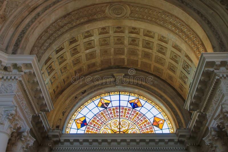 Interior del panteón nacional de los héroes en Asuncion, Paragua fotografía de archivo