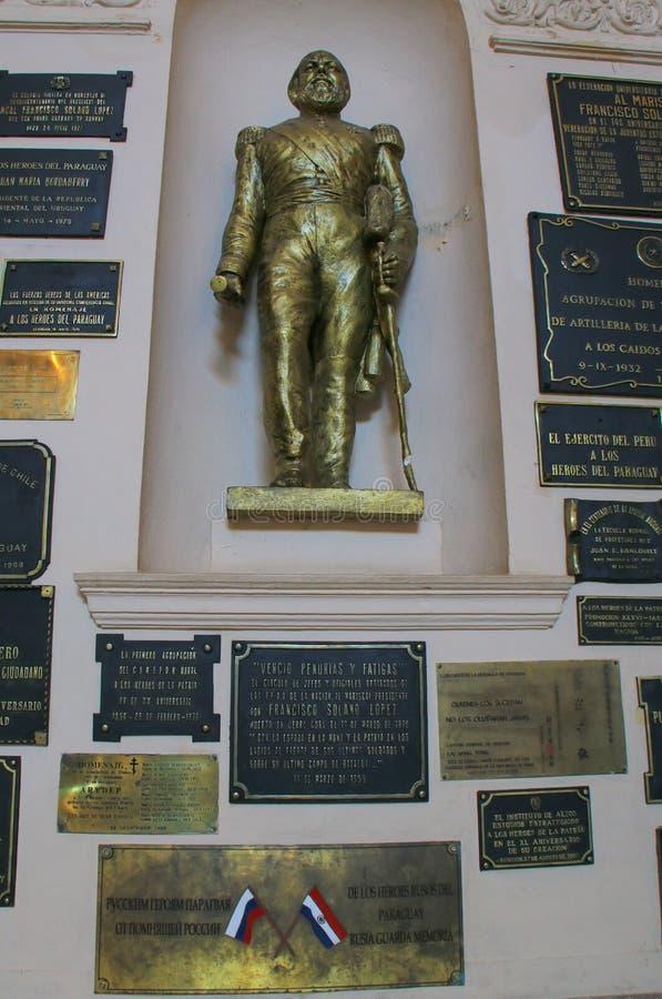 Interior del panteón nacional de los héroes en Asuncion, Paragua fotografía de archivo libre de regalías