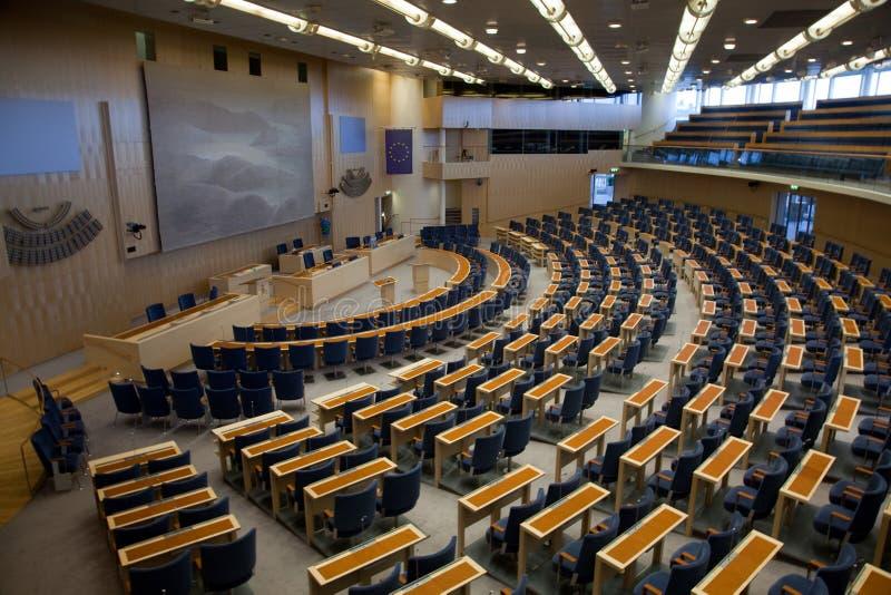 Interior del parlamento sueco en Estocolmo foto de archivo