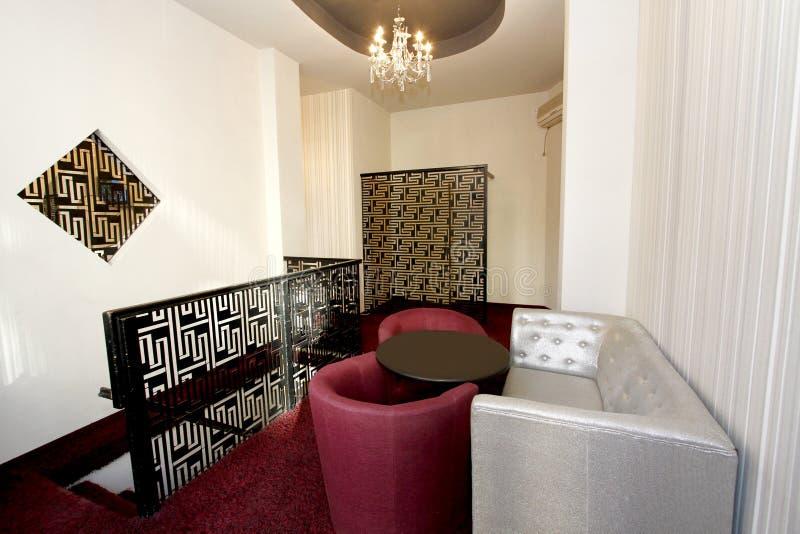 Interior del pasillo del café o del hotel fotos de archivo libres de regalías