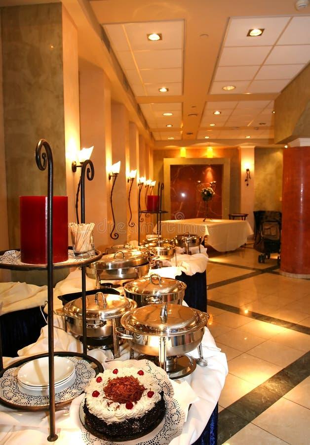 Interior del restaurante. imagen de archivo