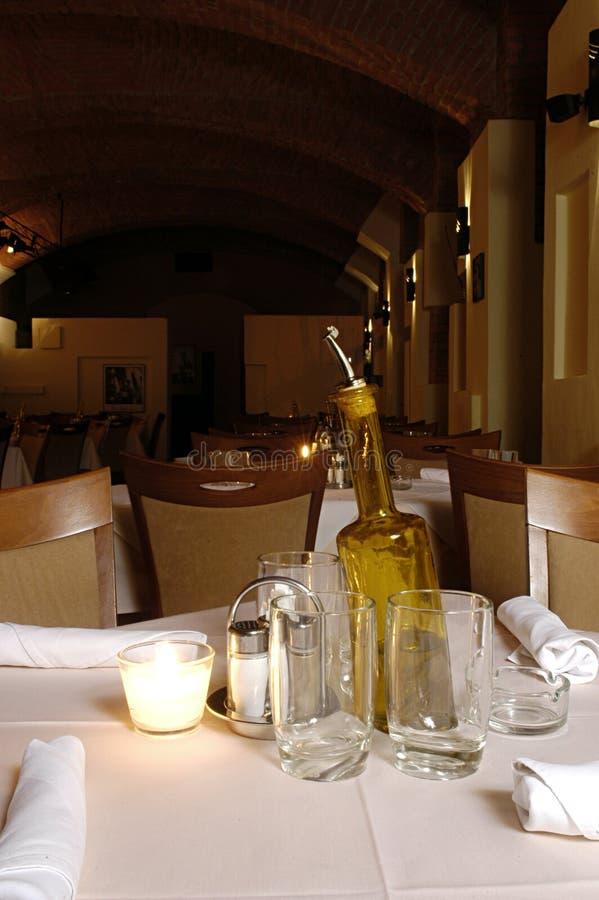 Interior del restaurante fotografía de archivo libre de regalías