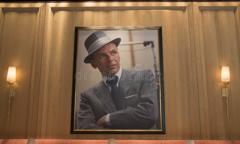 Interior del restaurante de Forbes Travel Guide Four-Star Sinatra en el casino de Las Vegas de la repetición imagen de archivo
