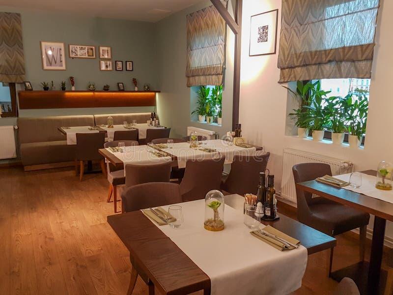 Interior del restaurante de la barra del estilo del vintage fotografía de archivo