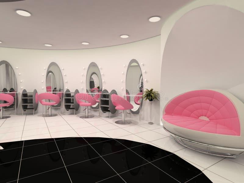Interior del salón de belleza profesional libre illustration