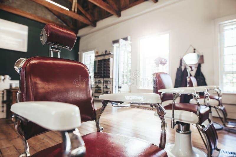 Interior del salón de pelo foto de archivo