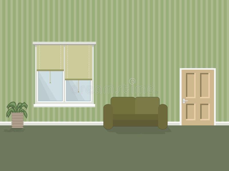 Interior del sitio ilustración del vector