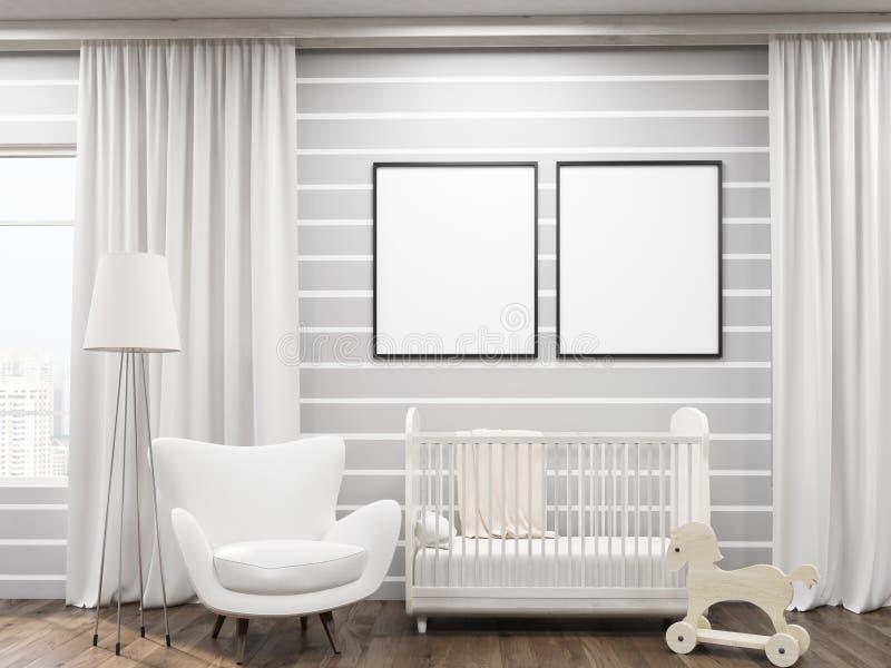 Interior del sitio del niño acogedor ilustración del vector