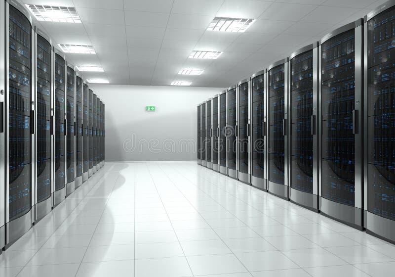 Interior del sitio del servidor ilustración del vector