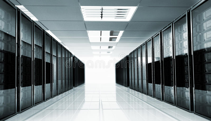 Interior del sitio del servidor fotografía de archivo libre de regalías