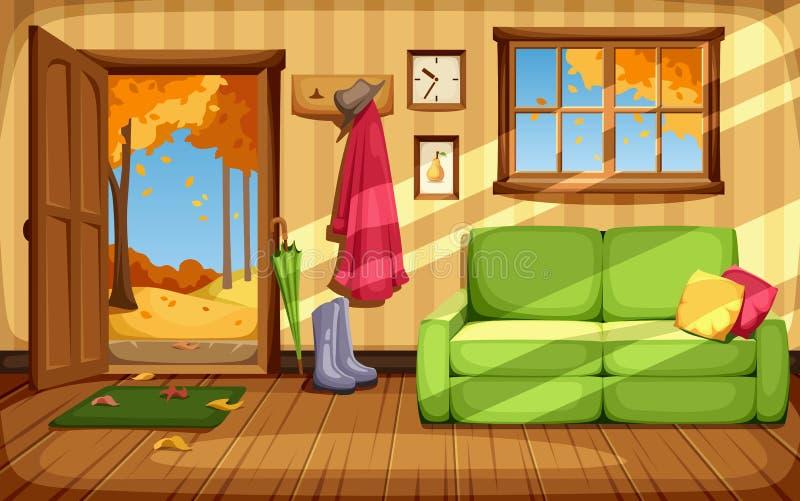 Interior del sitio del otoño Ilustración del vector libre illustration