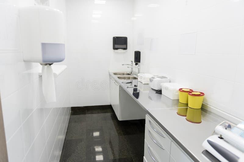 Interior del sitio a prueba de gérmenes en estomatología fotos de archivo