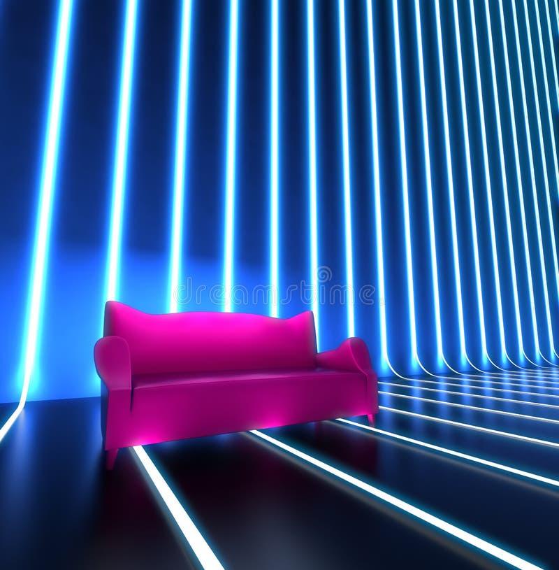 Interior del sofá de club fotos de archivo