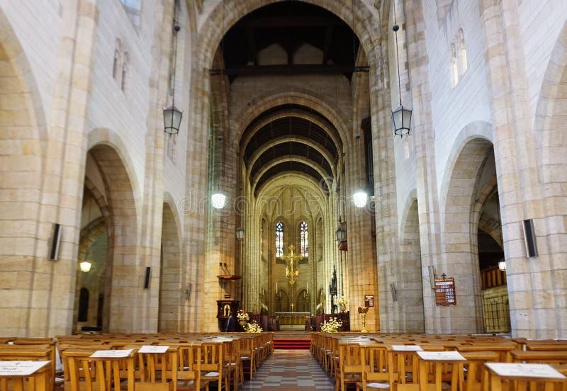 Interior del St Georges Cathedral en Cape Town fotografía de archivo