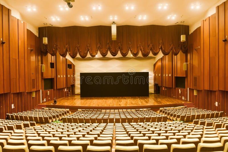 Interior del teatro foto de archivo