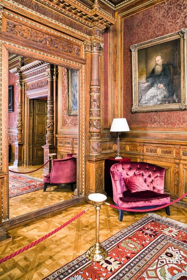 Interior del teatro de la ópera húngaro del estado en Budapest fotos de archivo libres de regalías