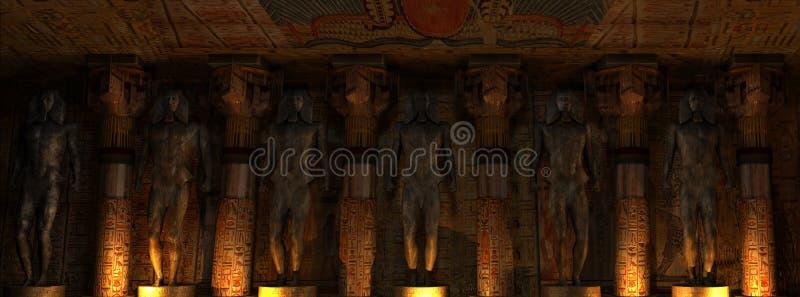 Interior del templo stock de ilustración