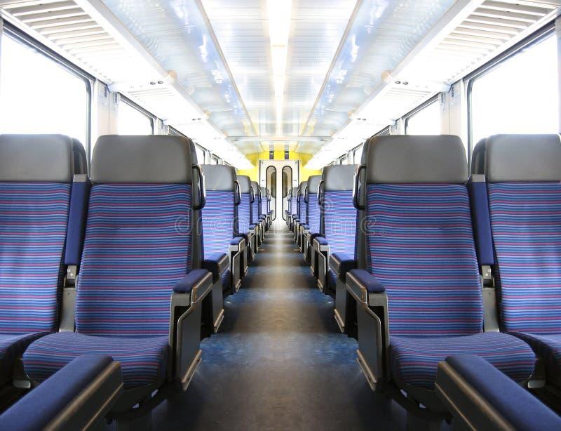 Interior del tren imagen de archivo libre de regalías