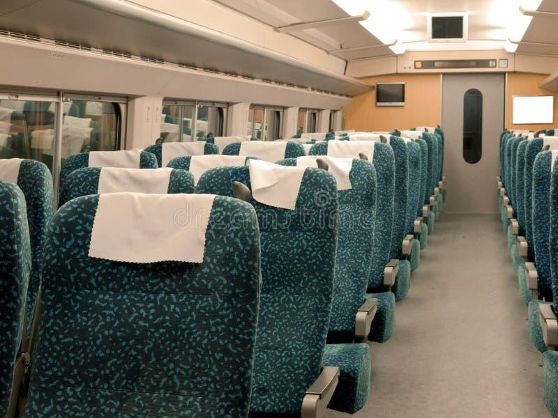 Interior del tren imágenes de archivo libres de regalías