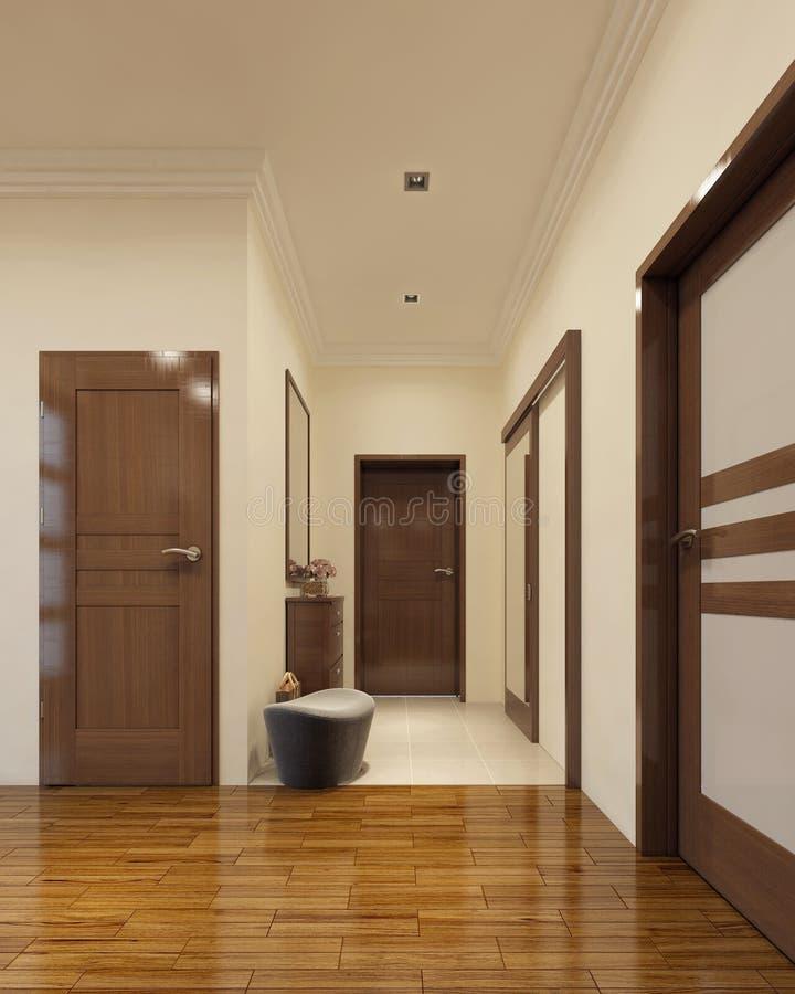 Interior del vestíbulo del desván libre illustration